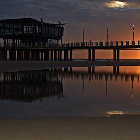 Sunrise! by Gavin Plessis - Buildings & Architecture Other Exteriors ( dawn, reflections, ocean, beach, sunrise,  )