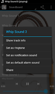 Whip Sounds - screenshot