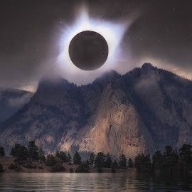 Eclipse Over Estes by Andy Taber - Digital Art Places