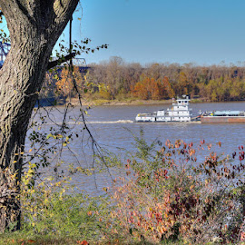 Rollin' on the River by Joe Machuta - Transportation Boats