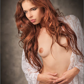 April Berry by Fred Prose - Nudes & Boudoir Boudoir ( nipples, nude, exposed beauty imaging, breasts, beauty, robe )