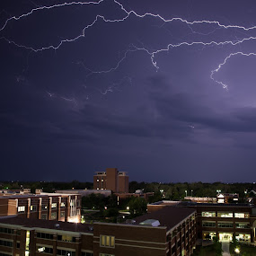 Lightning by John Spain - Landscapes Weather ( lightning, ou, norman, storms )
