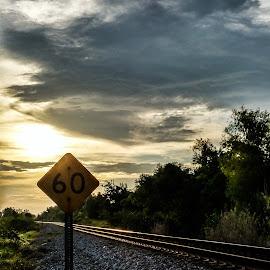 by Nita Jo Pearce - Transportation Railway Tracks