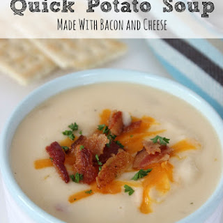 Quick Potato Soup Recipe with Bacon and Cheddar