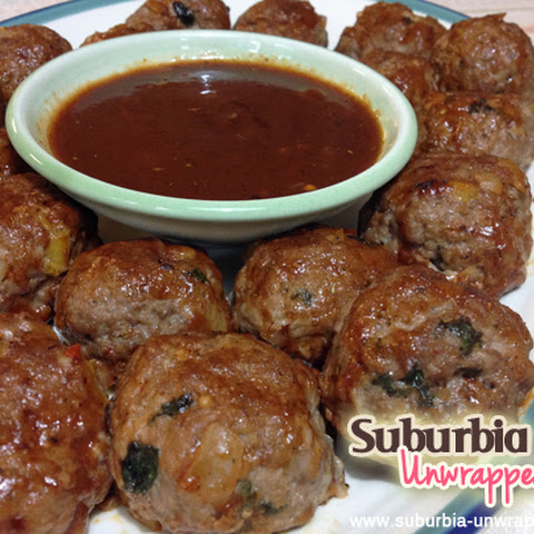Caribbean Jerk Meatballs with Dipping Sauce