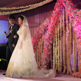 Bridal Couple Address by Dennis  Ng - Wedding Ceremony (  )