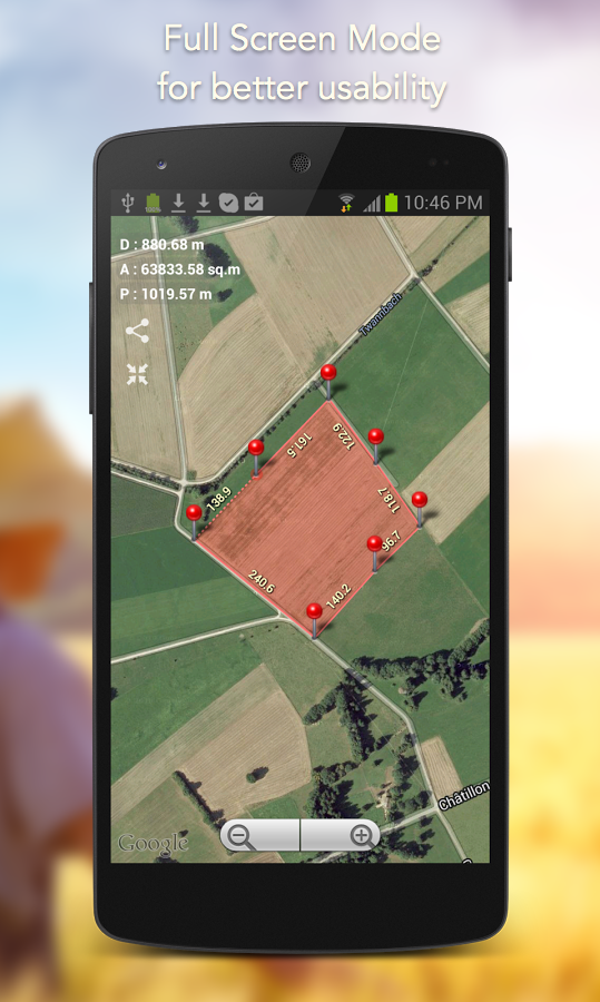 Planimeter - GPS area measure Screenshot 13