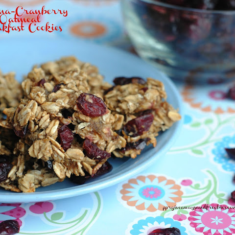 Banana Raisin/Cranberry Oatmeal Breakfast Cookies