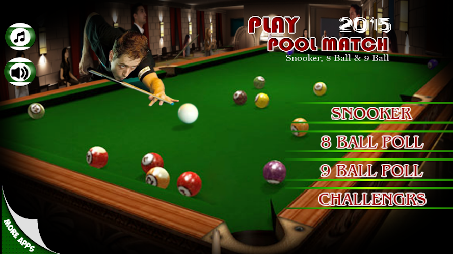 Play Pool Match 2017 3D Snooker Champion Challenge Android App Screenshot