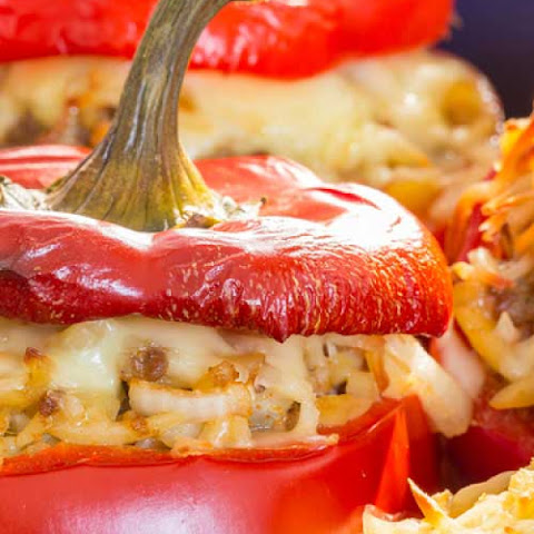 Rice Stuffed Red Peppers