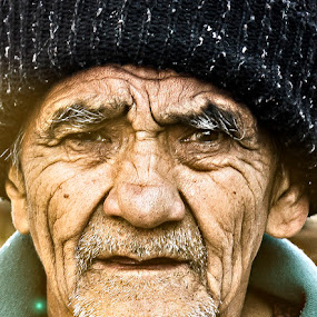 old face by Satyam Joshi - People Portraits of Men ( senior citizen, pwcfaces-dq )
