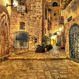 OLD JAFFA by Dong  Leoj - City,  Street & Park  Neighborhoods ( neighborhoods, city.street&park )
