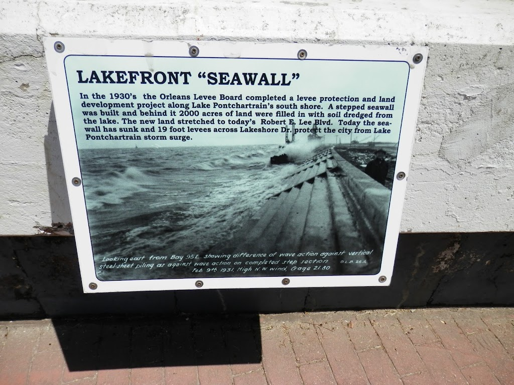 In the 1930's the Orleans Levee Board completed a levee protection and land development project along Lake Pontchartrain's south shore. A stepped seawall was built and behind it 2000 acres of land ...