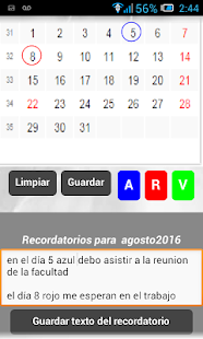 Calendario - screenshot