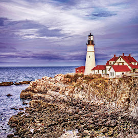Portland Head Light by Richard Michael Lingo - Buildings & Architecture Public & Historical ( maine, historic, public, buildings, portland )