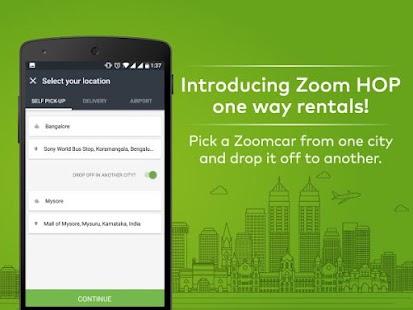 App Zoomcar Self Drive Car Rental apk for kindle fire