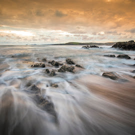 evening by Adrian O'Neill - Landscapes Waterscapes ( water, sunset, ocen, beach, seascape, sun )