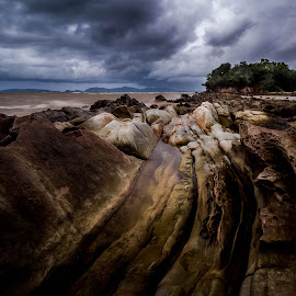 Teluk Villa by Gerard Macorvick - Landscapes Weather ( sea, cloud, weather, ocean, rock formation, storm )