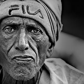 *** by Shibram Nag - Black & White Portraits & People ( travel photography, close up, face, photojournalism, black and white, portrait, street photography, life )