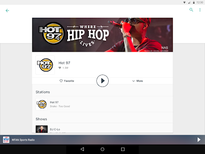 App TuneIn Radio: Stream NFL, Sports, Music & Podcasts APK for Windows Phone