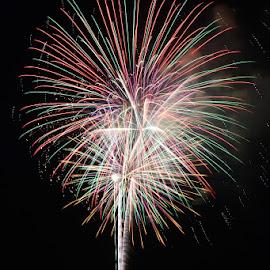 Splash of light by Ken Black - Abstract Fire & Fireworks ( florida, st. cloud, fireworks, lake )