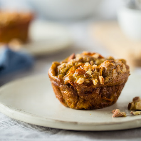 Egg Muffins with Maple Sweet Potato Noodles, Bacon and Almond Butter