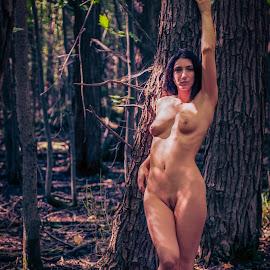 Pose by James Baker - Nudes & Boudoir Artistic Nude ( farm, model, nude, barn, kallia, 825555, forest )