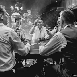 Cards by Lood Goosen (LWG Photo) - Wedding Groups ( groomsmen, wedding photography, wedding photographers, black and white, wedding day, weddings, wedding, wedding photographer, groom )