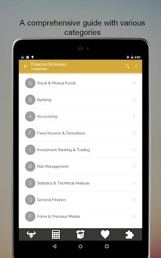 Financial Terms Dictionary - screenshot