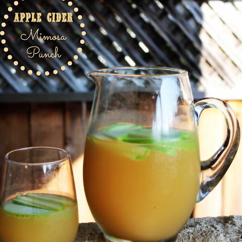 Apple Cider Mimosa Punch
