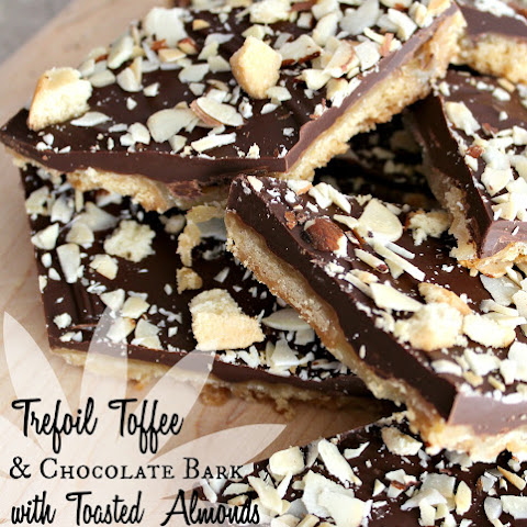 Trefoils Toffee & Chocolate Bark with Toasted Almonds