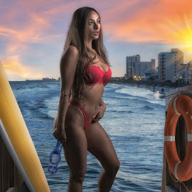 The lifeguard by Bruce Cramer - Digital Art People (  )
