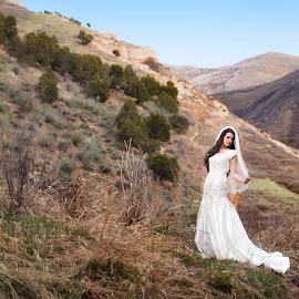 by Melissa Papaj - Wedding Bride ( mountains, model, mountain, girl, female, wedding, marriage, bride )