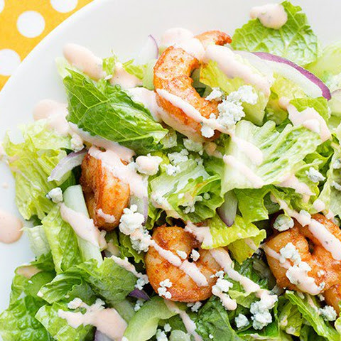 Buffalo Shrimp Dinner Salad