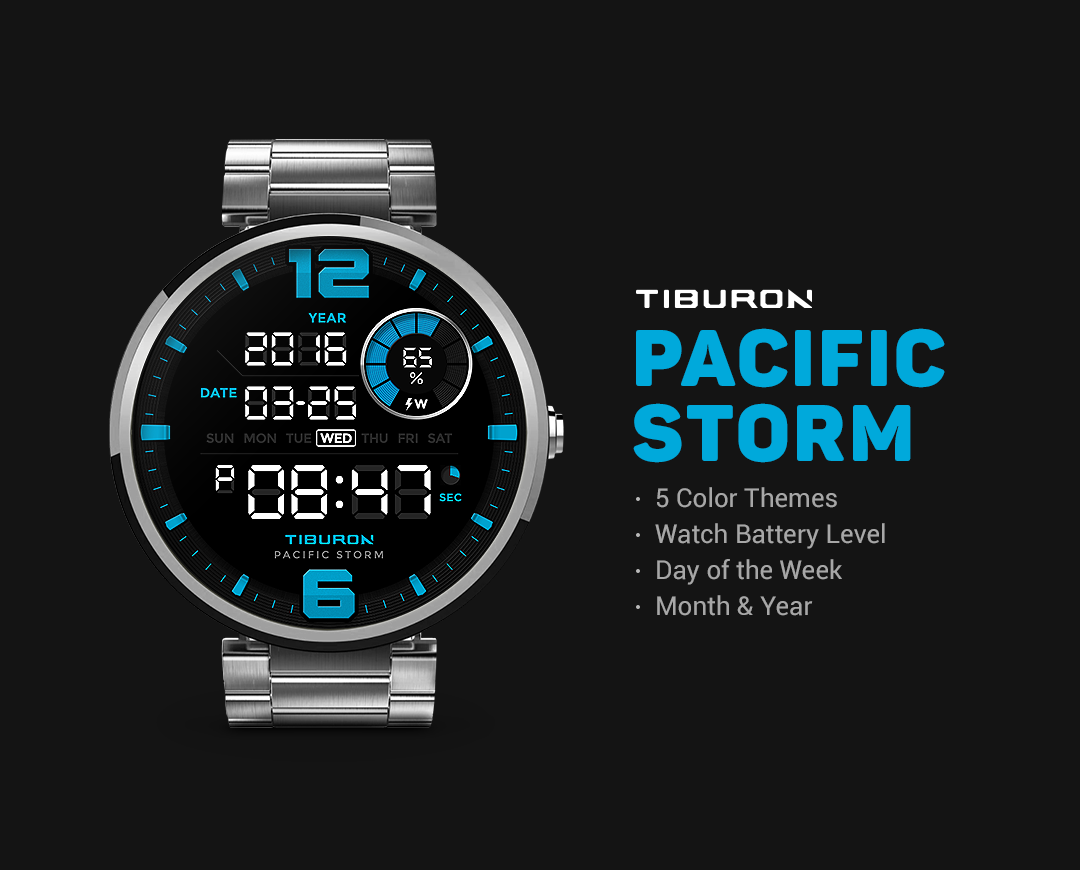 Pacific Storm watchface by Tib Screenshot 0