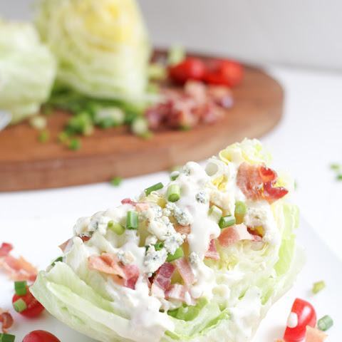 Blue Cheese Wedge Salad with Bacon