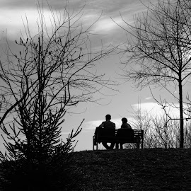 me and them by Vladau Vlad - People Couples ( lovers, black and white, sunset, people )