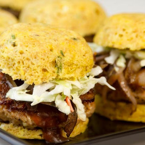 Bacon-Cheddar BBQ Pork Sliders