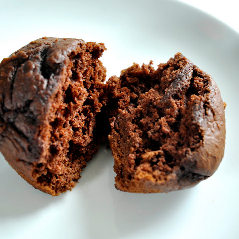 Simple Chocolate Pumpkin Muffins