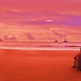 Oasis Dusk by Anthony Brillantes - Landscapes Weather