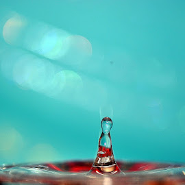 waterdrop by Paul Wante - Abstract Water Drops & Splashes ( abstract, splash, waterdrop, blue )