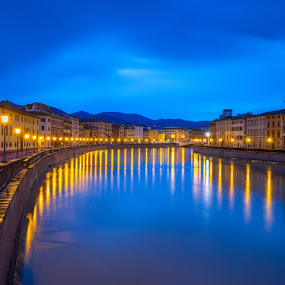 Pisa Italy 2 by Xianwen Xu - City,  Street & Park  Vistas ( 2016, travel, europe, italy, leica )
