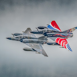 Pair of Jets by Anthony P Morris - Transportation Airplanes ( anthony morris, airoplanes, airtattoo, airoplane, jets, jet, airshow )