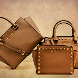 Michael Kors Handbags by Bill Tiepelman - Artistic Objects Clothing & Accessories ( handbag, purse, still life, michael kors, brown, tan, purses )