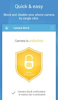 Screenshot of Camera Block - Spyware protect