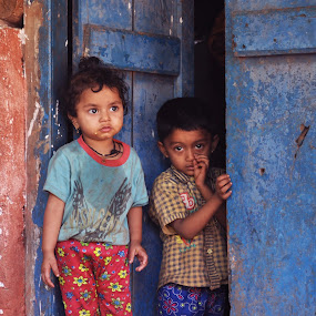 Innocence by Sudheer Hegde - Babies & Children Children Candids ( red, blue, kids )