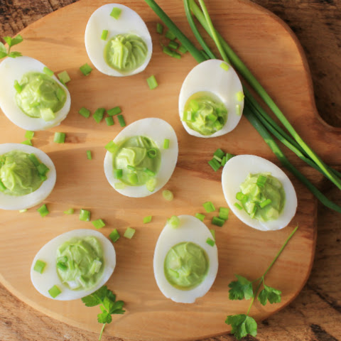 The 28-Day Shrink Your Stomach Challenge Avocado Deviled Eggs