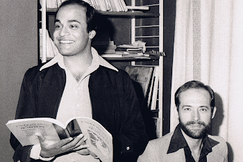 With Canadian Actor and Playwright Maxim Maxumdar, London, 1979 (3) beard was short-lived