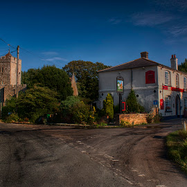 Burmarsh by Dave Godden - City,  Street & Park  Historic Districts ( shepherd, church, saints, pub, all )