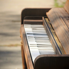 Sidewalk Piano by Alexandra Williams - City,  Street & Park  Street Scenes ( music, piano, found, sidewalk, abandoned )